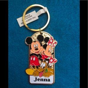 """NWT Disney Vtg. Keychain """"Jenna"""""""